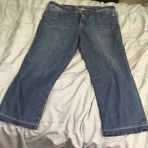 Loft straight cropped jeans